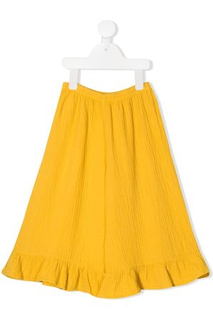Emile et ida Ruffled hem wide-leg trousers