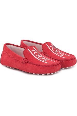 Tod's Gommino logo-print moccasins