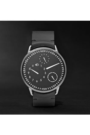 Ressence Type 1 Mechanical 42mm Titanium And Leather Watch, Ref. No. Type 1b