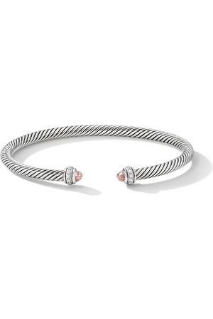 David Yurman Sterling diamond Cable bangle
