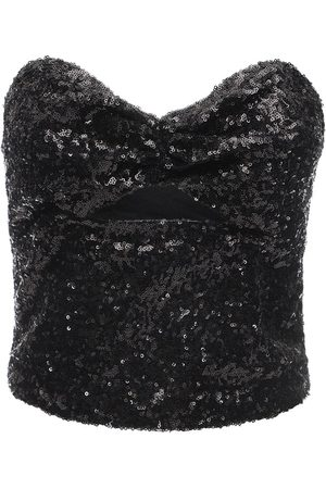IN THE MOOD FOR LOVE Strapless Sequined Top