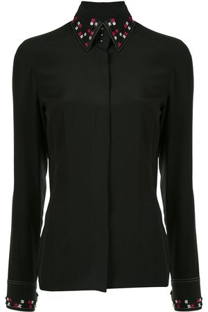 CHANEL 2004 CC embroidered slim-fit shirt