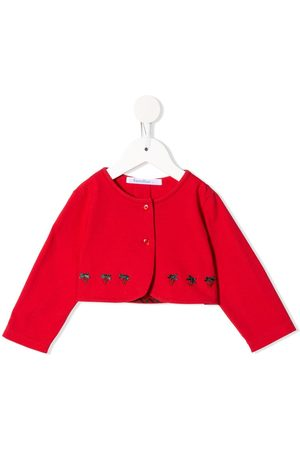 Familiar Strawberry embroidered buttoned jacket