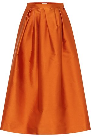 DRIES VAN NOTEN Satin midi skirt
