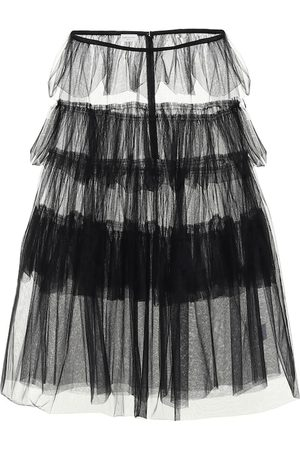 DRIES VAN NOTEN Tiered tulle skirt