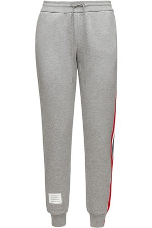 Thom Browne Cotton Sweatpants W/ Logo Stripes