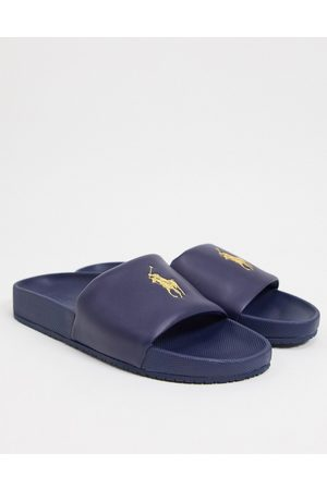 Polo Ralph Lauren Slider in with yellow logo