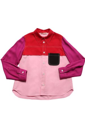MARNI JUNIOR Color Block Viscose Shirt