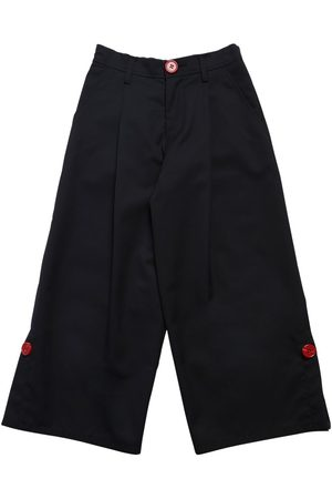 MARNI JUNIOR Wide Leg Wool Blend Pants