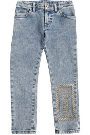 VERSACE Stretch Cotton Jeans