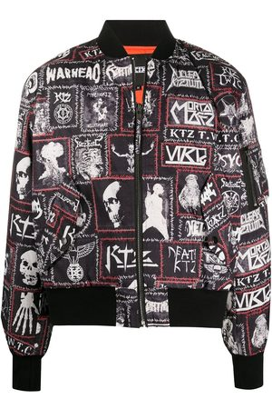 KTZ Monster printed patch bomber jacket