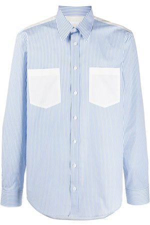 Helmut Lang Striped cotton long-sleeved shirt