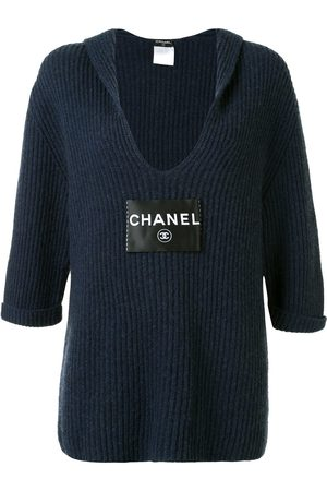 CHANEL 2008 back-tie knitted top