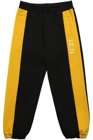 Nº21 Boys Pants - Logo Print Cotton Sweatpants