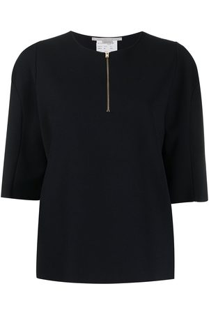 Stella McCartney Zip-front knitted top