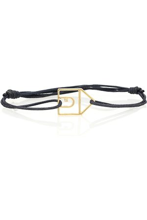 Aliita Casita 9kt gold cord bracelet with diamond
