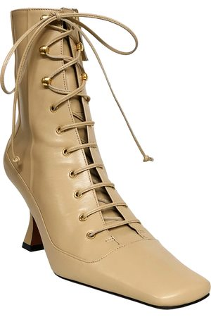 MANU Women Lace-up Boots - Duck Lace-Up Leather Boots