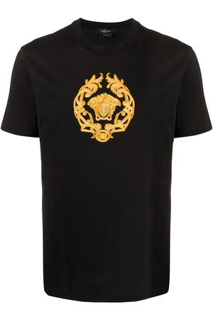 VERSACE Medusa crest embroidered T-shirt