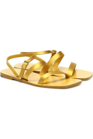 The Row Exclusive to Mytheresa – Flat Wedge satin sandals