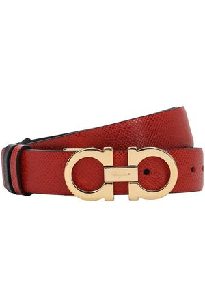 Salvatore Ferragamo 25mm Reversible Leather Belt