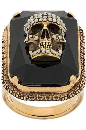 Alexander McQueen Skull on crystal ring