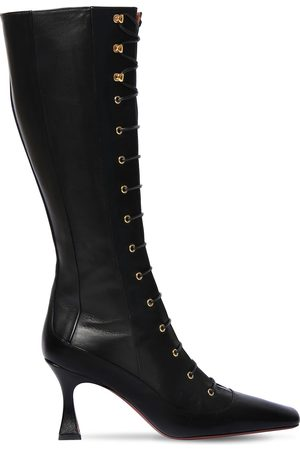 MANU 80mm Duck Leather Lace-up Boots