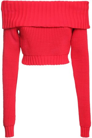 SUNNEI Off-the-shoulder Knit Crop Top