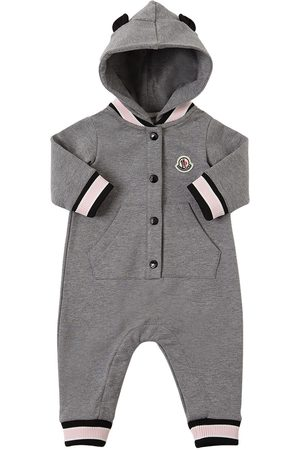 Moncler Hooded Cotton Sweat Romper