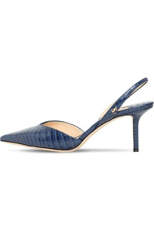 Jimmy Choo 65mm Thandi Embossed Slingback Pumps
