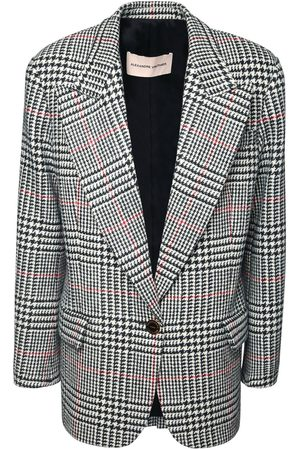 ALEXANDRE VAUTHIER Oversized Wool Prince Of Wales Blazer