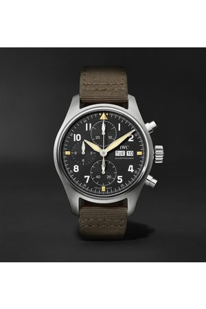 IWC SCHAFFHAUSEN Men Watches - Pilot's Spitfire Automatic Chronograph 41mm Stainless Steel and Textile Watch, Ref. No. IW387901
