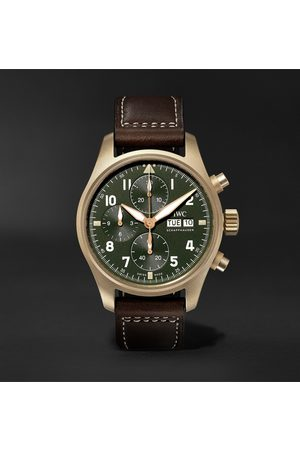 IWC SCHAFFHAUSEN Men Watches - Pilot's Spitfire Automatic Chronograph 41mm Bronze and Leather Watch, Ref. No. IW387902
