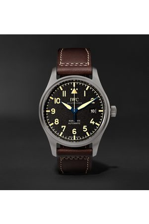 IWC SCHAFFHAUSEN Pilot's Mark XVIII Heritage Automatic 40mm Titanium and Leather Watch, Ref. No. IW327006