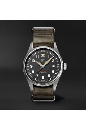 IWC SCHAFFHAUSEN Men Watches - Pilot's Spitfire Automatic 39mm Stainless Steel and Textile Watch, Ref. No. IW326801