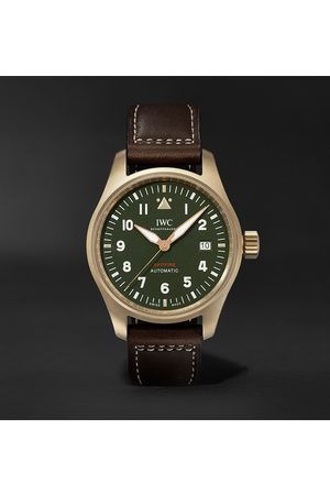 IWC SCHAFFHAUSEN Pilot's Spitfire Automatic 39mm Bronze and Leather Watch, Ref. No. IW326802