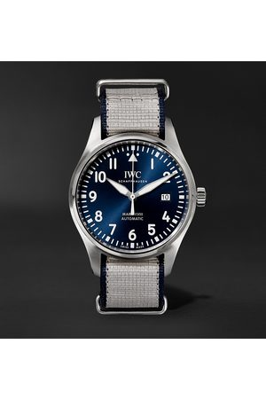 IWC SCHAFFHAUSEN Pilot's Mark XVIII Le Petit Prince Edition Automatic 40mm Stainless Steel and Textile Watch, Ref. No. IW327004