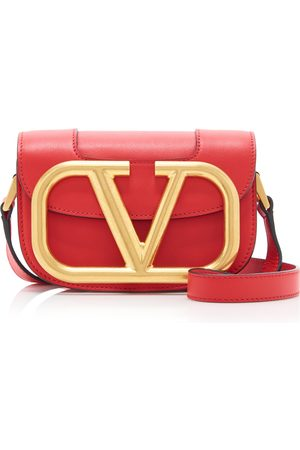 VALENTINO Women Shoulder Bags - Supervee Small Leather and Brass Shoulder Bag