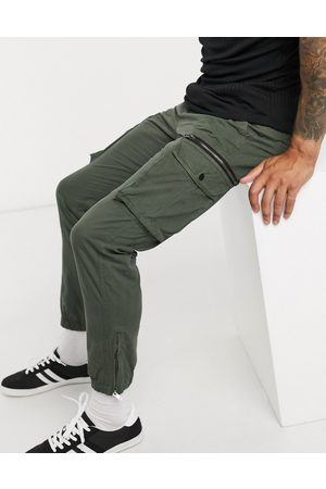 River Island Tapered cargo trousers in khaki