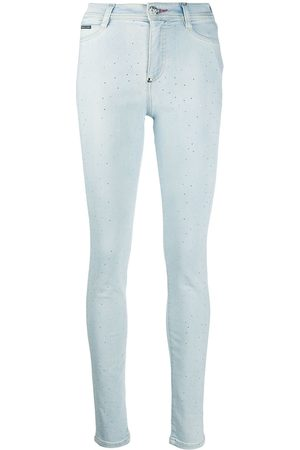 Philipp Plein High-waisted crystal jeggings