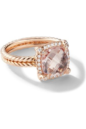David Yurman 18kt rose gold Châtelaine diamond and morganite ringpav