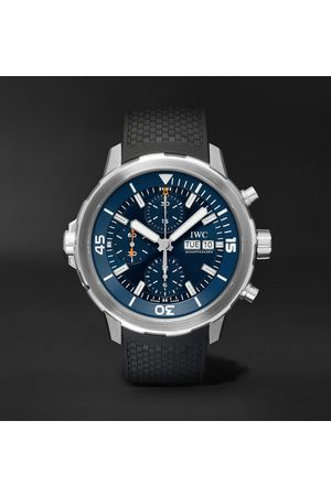 IWC SCHAFFHAUSEN Aquatimer Automatic Chronograph Expedition Jacques-Yves Cousteau Edition Automatic 40mm Stainless Steel and Rubber Watch