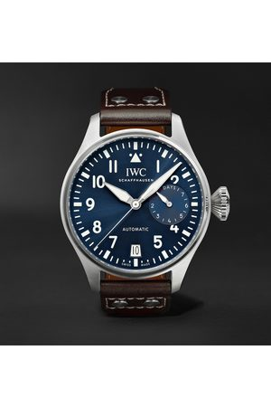 IWC SCHAFFHAUSEN Men Watches - Big Pilot's Le Petit Prince Automatic 46mm Stainless Steel and Leather Watch, Ref. No. IW501002