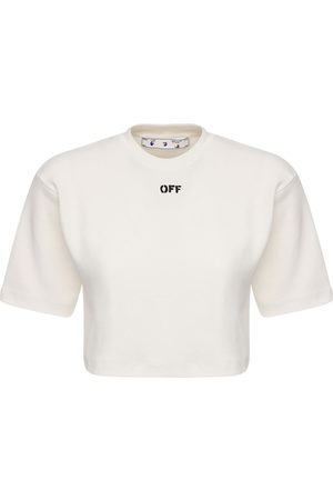 OFF-WHITE Women T-shirts - Off Cotton Blend Jersey T-shirt