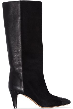Isabel Marant Leas 75 suede leather knee-length boots