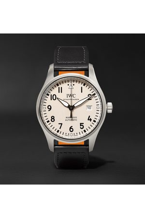 IWC SCHAFFHAUSEN Men Watches - Pilot's Mark XVIII Automatic 40mm Stainless Steel and Leather Watch, Ref. No. IW327002