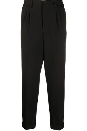Ami Pleated tailored cropped trousers