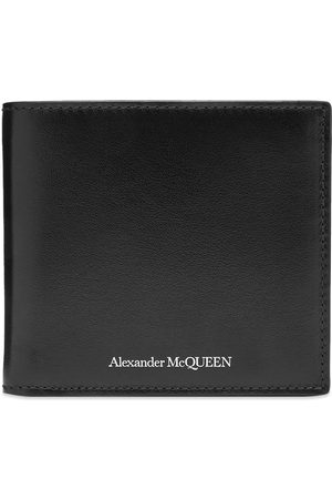 Alexander McQueen 8cc Leather Logo Billfold Wallet