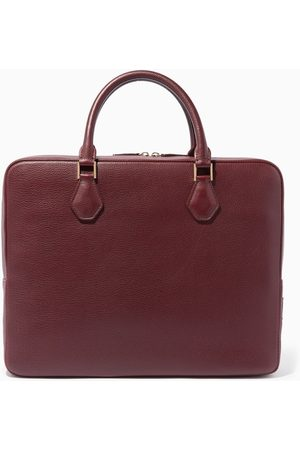 MONTROI Burgundy Warfield Single Leather Briefcase
