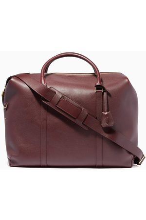 MONTROI Burgundy Delta Leather Weekend Bag