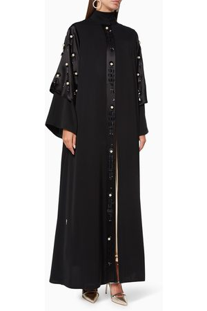 Pearl Haute Couture Women Abayas - Embroidered Silk Abaya